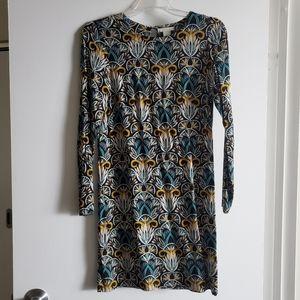H&M patterned lightweight shift dress